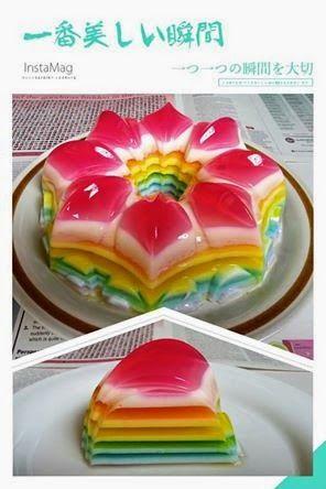 Baking's Corner: Rainbow Agar Agar - by Cecilia Chia