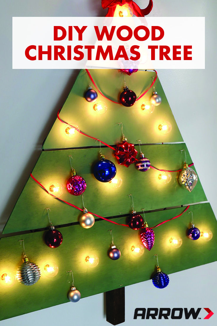 Diy Wall Mounted Christmas Tree Project Arrow Projects Wall Mounted Christmas Tree Wood Christmas Tree Diy Holiday