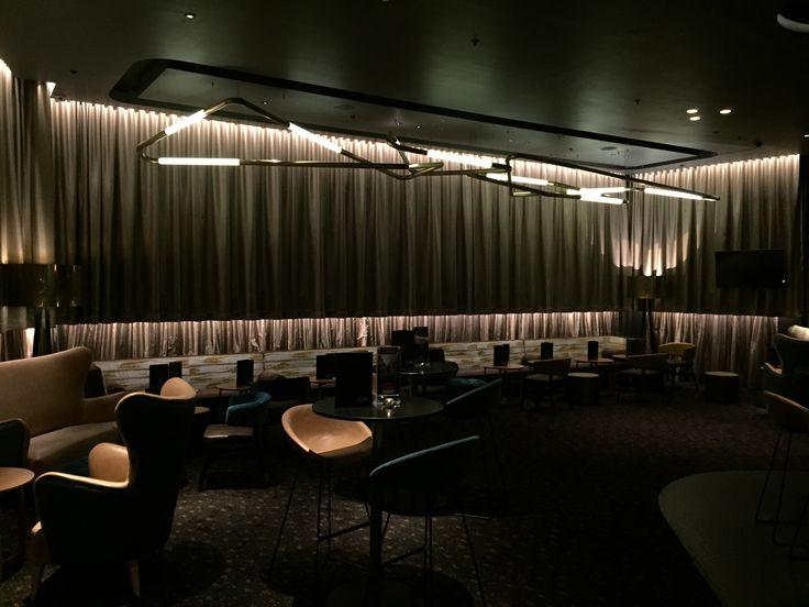 Event Cinemas Miranda. Custom Tube Lighting scuplture by Nocturnal Lighting www.ladgroup.com.au