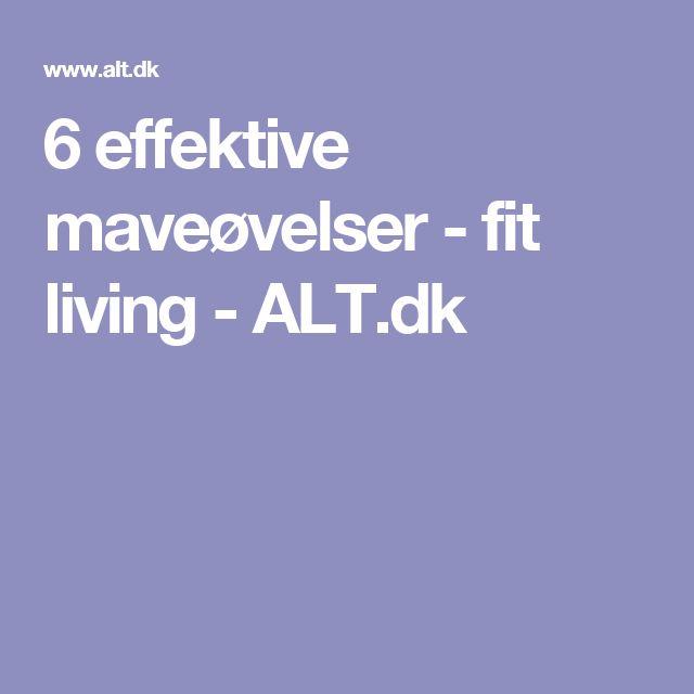 6 effektive maveøvelser - fit living - ALT.dk