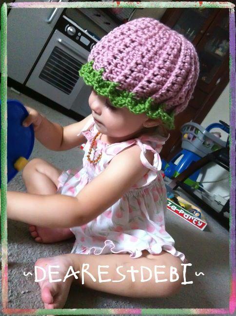 Watermelon Beanie *FREE* crochet pattern