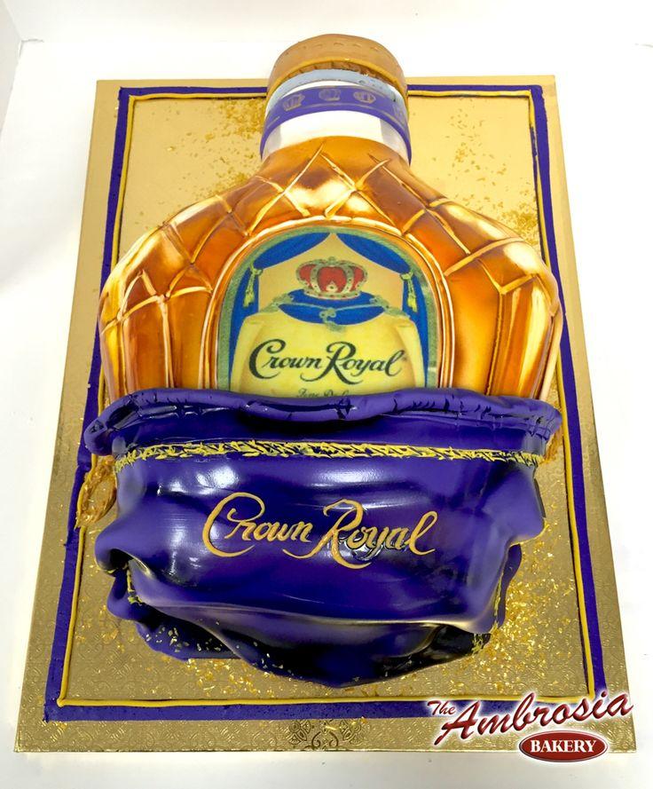 Crown Royal Bottle | The Ambrosia Bakery Cake Designs- Baton Rouge, La |
