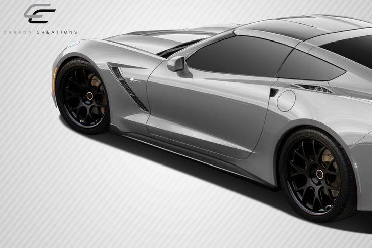 2014-2016 Chevrolet Corvette C7 Carbon Creations GT Concept Side Splitters - 2 Piece