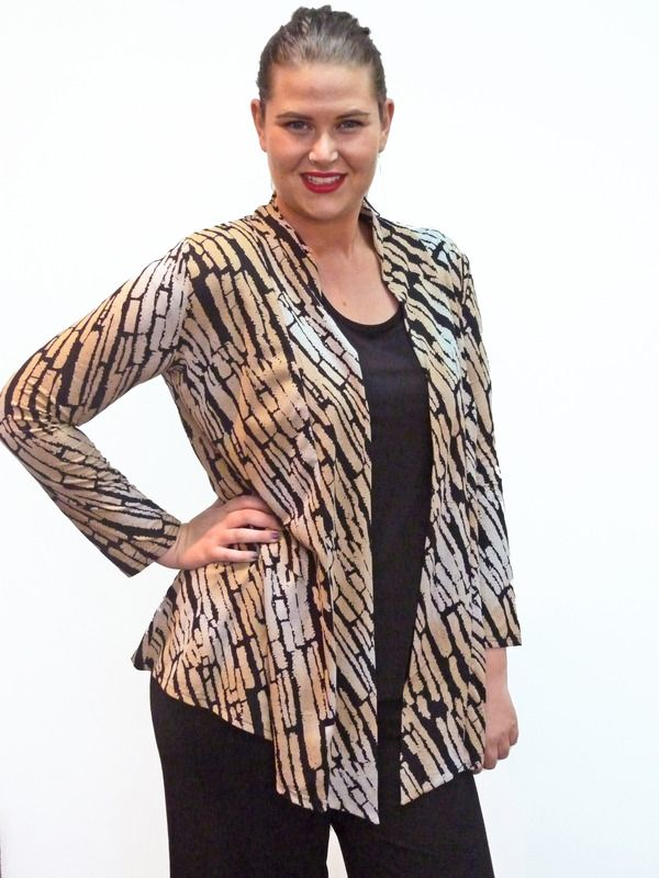 Jacket Kabaya Long Sleeve; Colour:  Cuba Nude; Size: M