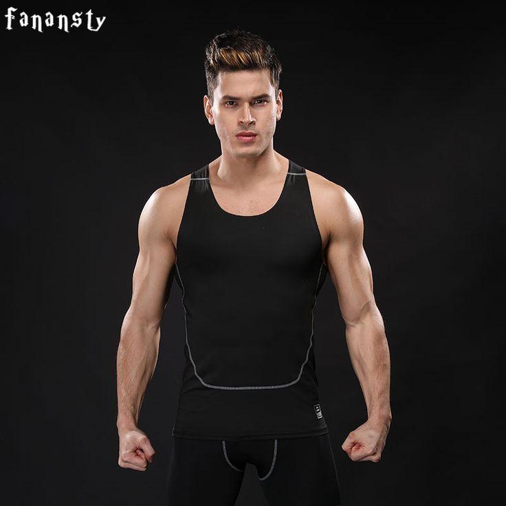 Summer Men's Sports Compression Tank Tops Quick Dry Bodybuilding Fitness Men Athletic Running Vests Men for Gym Vests 2017 New
