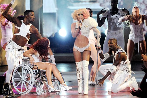 lady gaga disability project - Google Search   what do you guys think, not to many people like the image that Lady Gaga is giving for persons with disabilities. is she glamorizing everything or going over board with the sexual context?