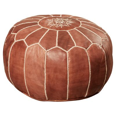 Leather Poof ottoman - $159  Found it at Wayfair - Mouassine Moroccan Leather Pouf Ottoman