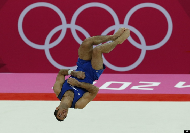 U.S. gymnast Danell Leyva performs on the floor during the Artistic Gymnastic men's individual all-around competition at the 2012 Summer Olympics, Wednesday, Aug. 1, 2012, in London.