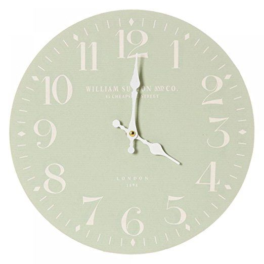 Classic Style WILLIAM SUTTON WALL CLOCK in Sage Green