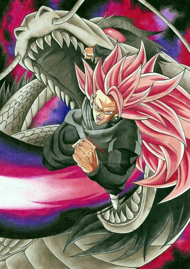 black goku ssj 3 rose ドラゴンボール