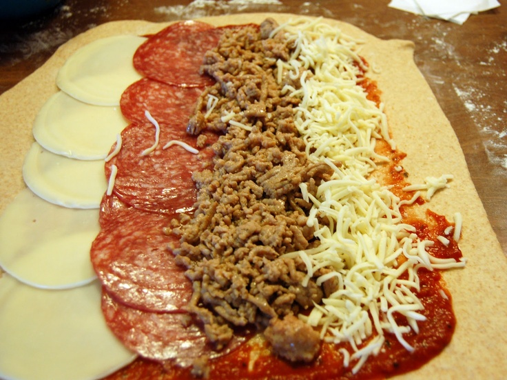 Spicy Meat and Cheese Stromboli | meals | Pinterest