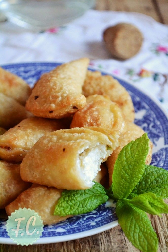 Traditional Greek Cheese Pies from Milos