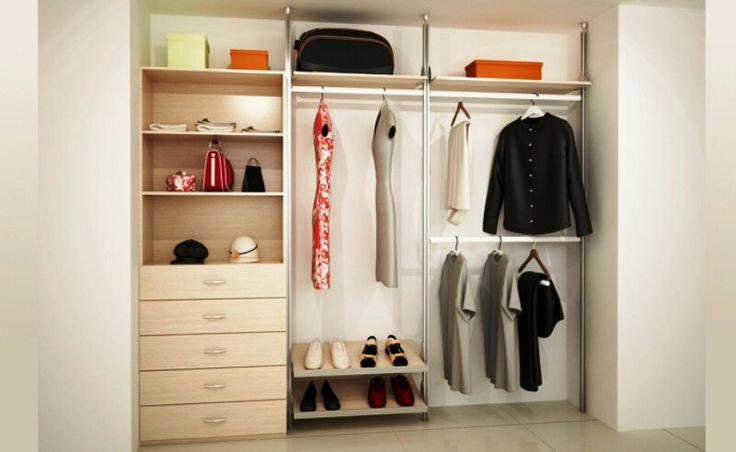 12 best organizacion images on pinterest closet storage for Closet para espacios pequenos