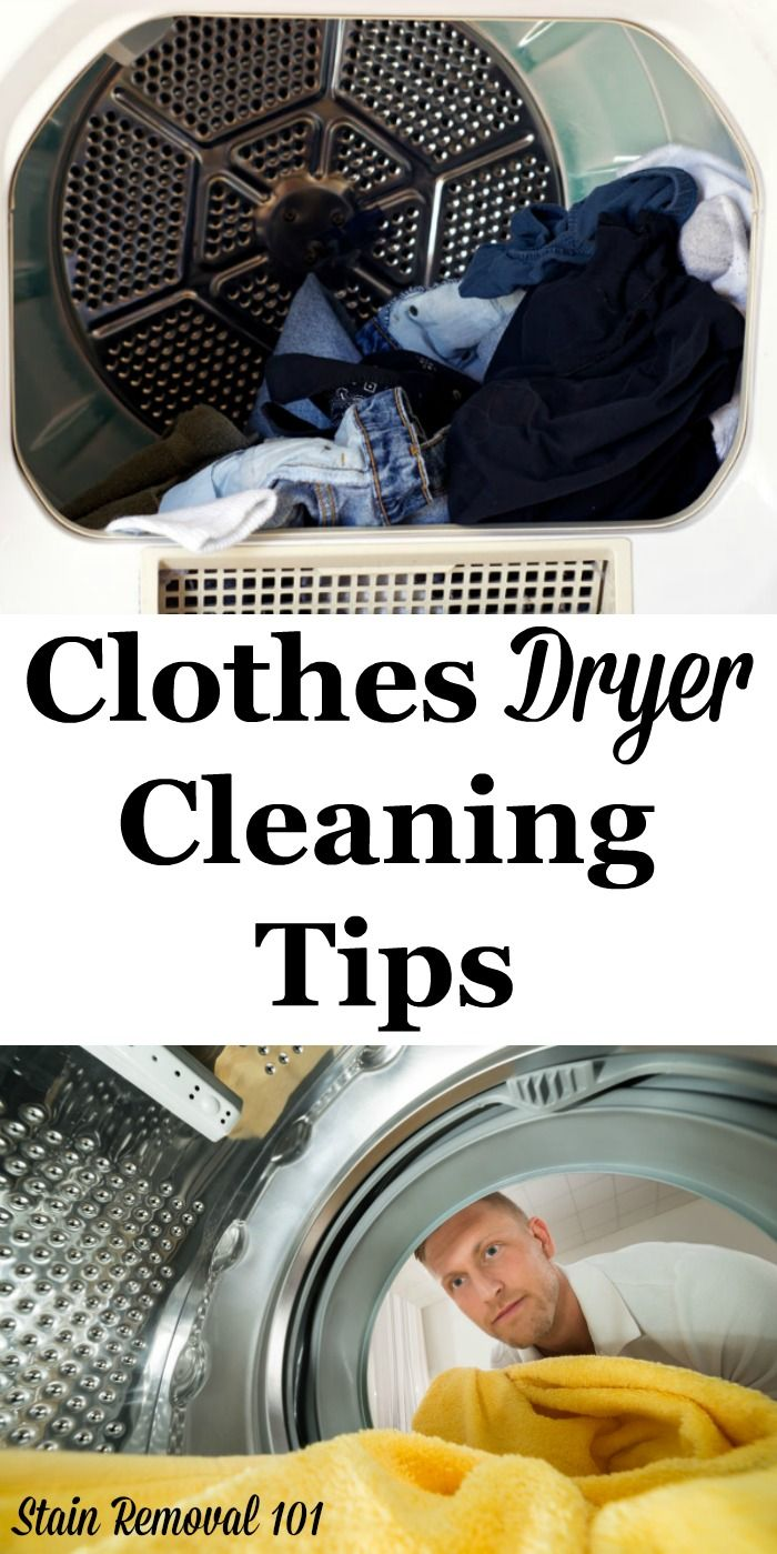 Here is a round up of dryer cleaning tips to keep your clothes dryer ready to dry your washed clothing, without fear of stains or dirt getting on the clothing, plus to keep this appliance working its best {courtesy of Stain Removal 101} #CleaningTips #LaundryTips #Cleaning