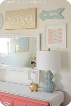 big girl room gallery wall