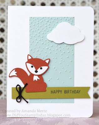 Foxy Birthday - Stampin' Up! Fox Builder Punch, Foxy Friends