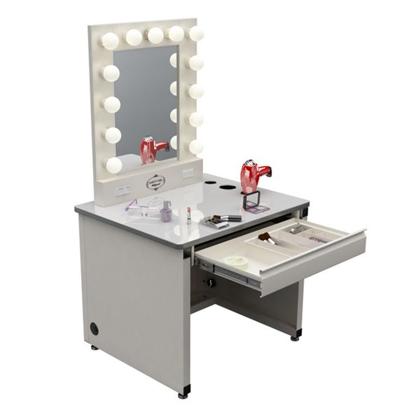 White Desk Vanity With Mirror NE Kids Lakehouse Collection Vanity