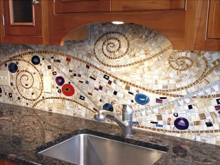 mosaic backsplash - I want Jesse to see this.