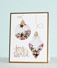 Gorgeous and Fun shaker card by Stephanie Klauck using Simon Says stamp Exclusives. October 2014