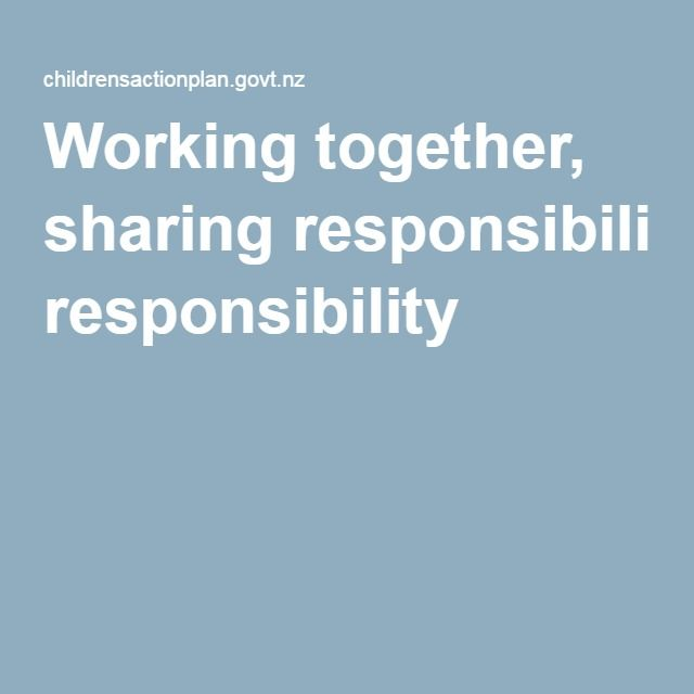 Working together, sharing responsibility |