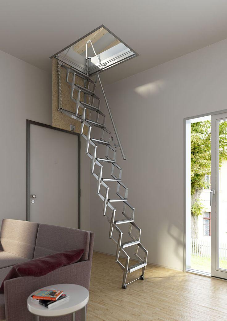 escalera plegable y para techo modelo flexa escaleras enescaes