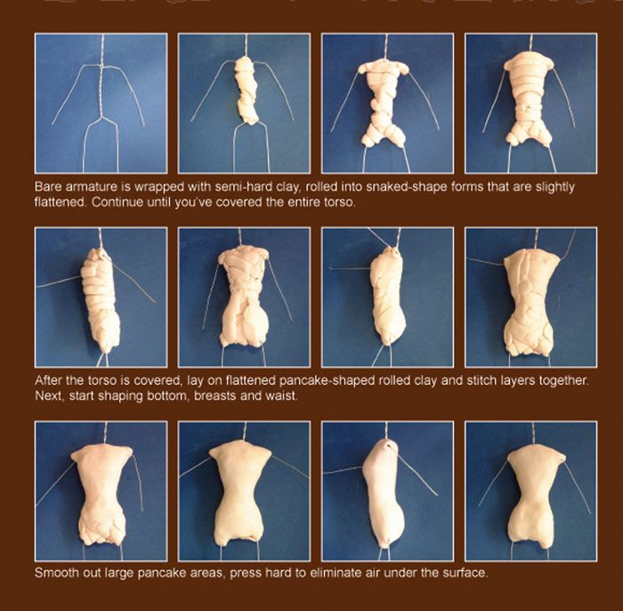 how to make a barbie body out of clay