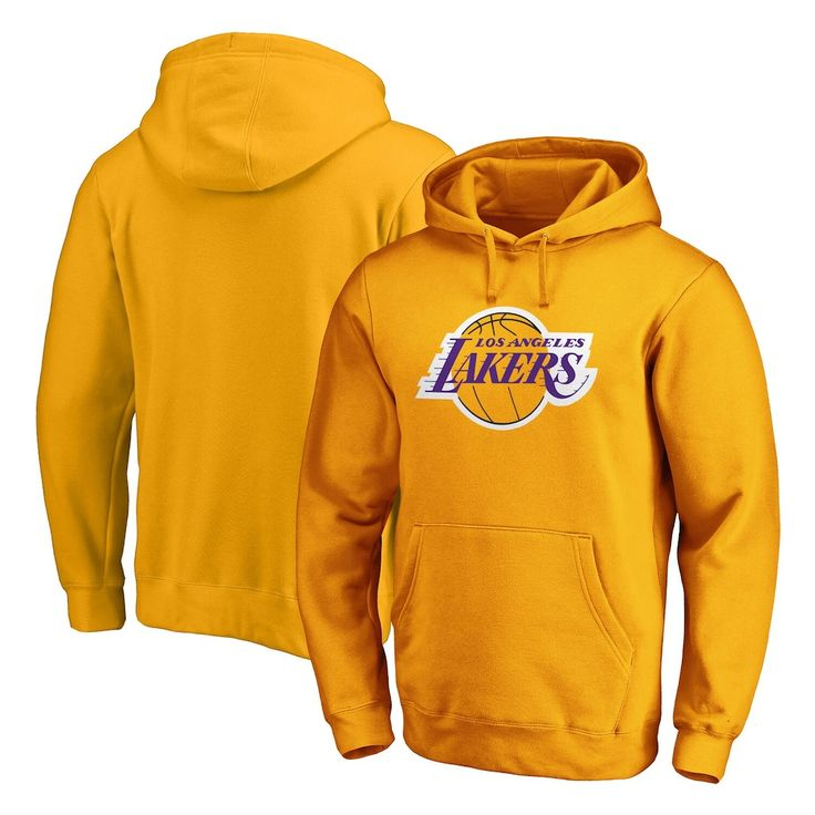 Men S Fanatics Branded Gold Los Angeles Lakers Primary Team Logo Pullover Hoodie In 2020 Red Hoodie Hoodies Pullover