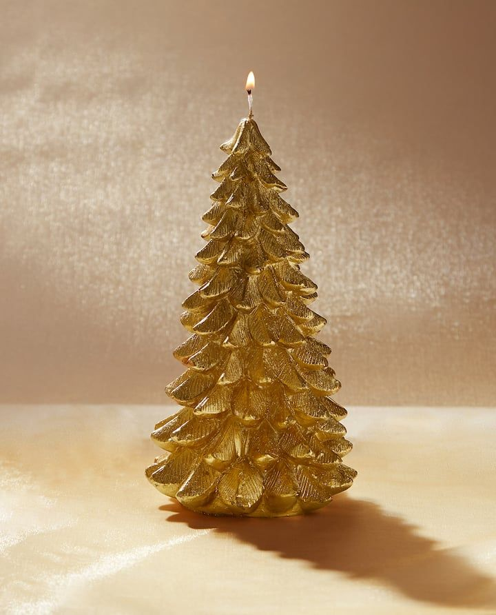 Image Of The Product Fir Tree Shaped Candle Christmas Decorations Zara Home Candles