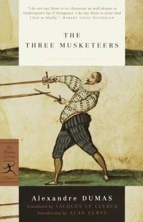 12+ (large volume) book, the movies are pretty average, I'd only watch them after the book for something light and complimentary, 2011 version (mild adult themes) - The Three Musketeers