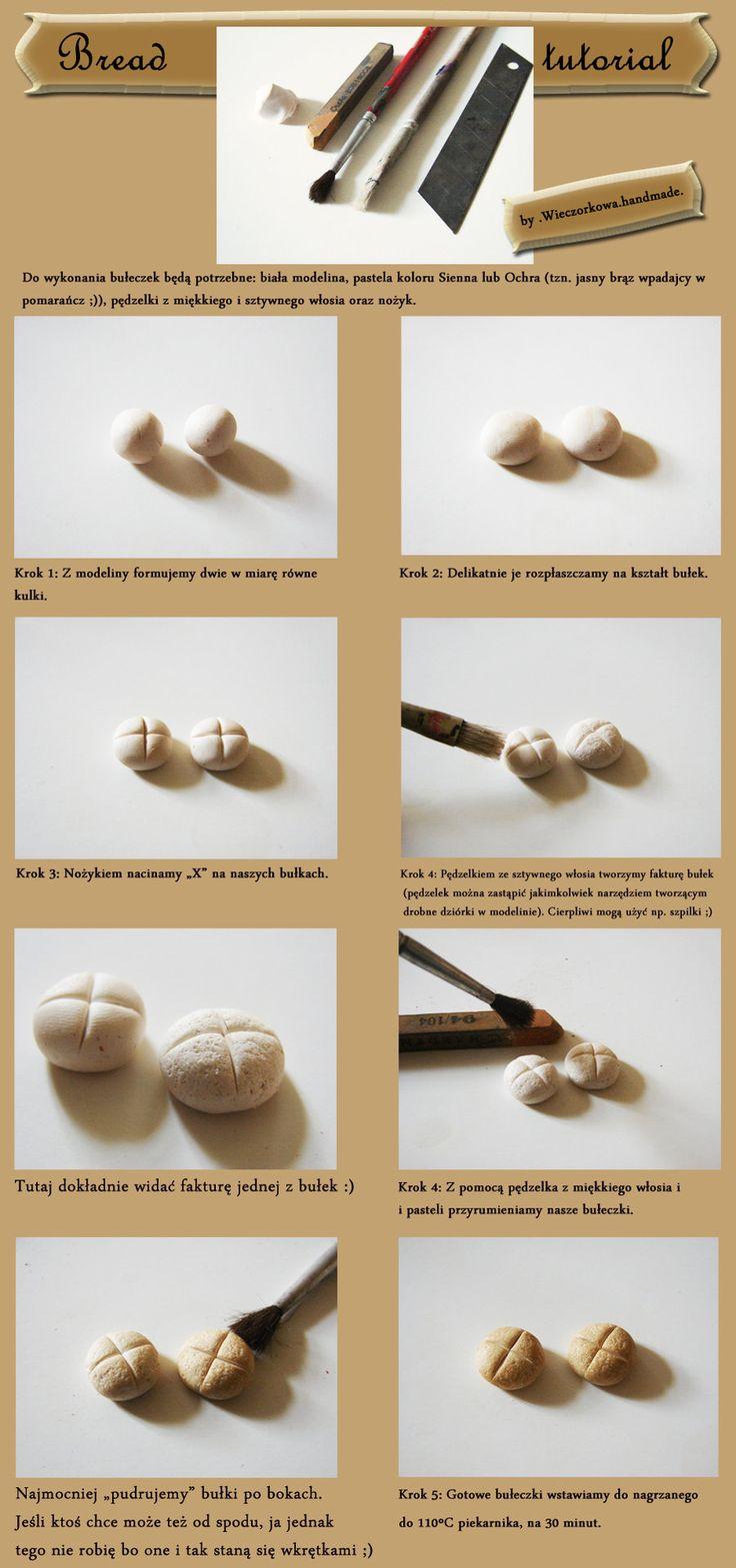 Fimo Bread tutorial by Wieczorkowa.deviantart.com