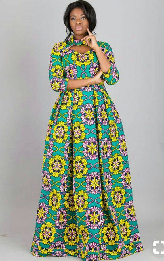 African Print Dress African Clothing African Dress African Fabric Dress  African Fashion African Maxi 74c631448dc5