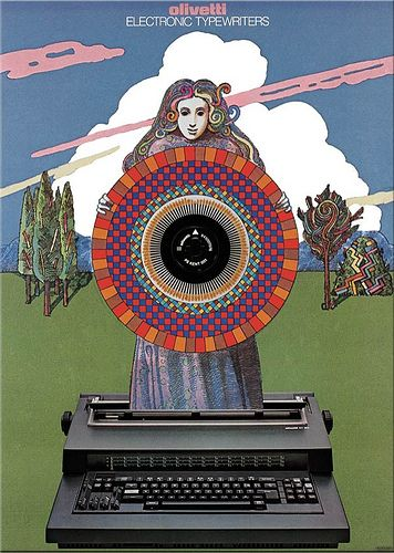 Electric Typewrigters Poster, Designed by Milton Glaser, 1983