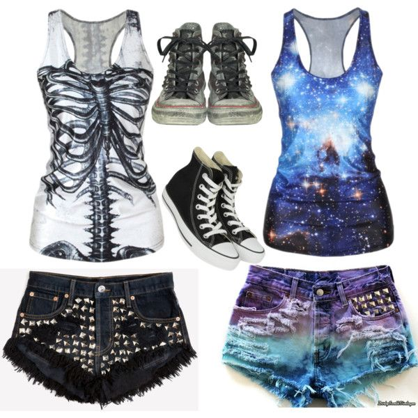 dead galaxy by jamkelly on Polyvore featuring polyvore fashion style Runwaydreamz Converse