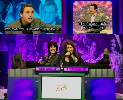 Goth Detectives, Noel Fielding and Russell Brand.