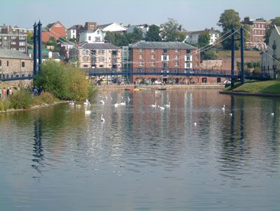 """Exeter, River Exe at the quay (that's pronounced """"key"""")"""