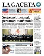 Portada de La Gaceta 7/11/2012