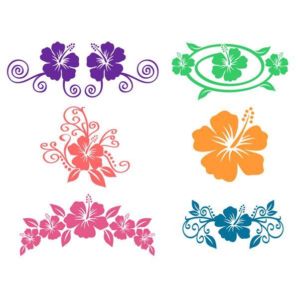 Download Hibiscus Flowers Hawaii Svg Cuttable Designs   Flower svg ...