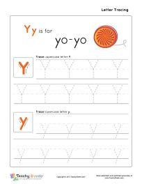 yy is for yo yo preschool tracing letter y y worksheet for more free worksheets visit us at. Black Bedroom Furniture Sets. Home Design Ideas