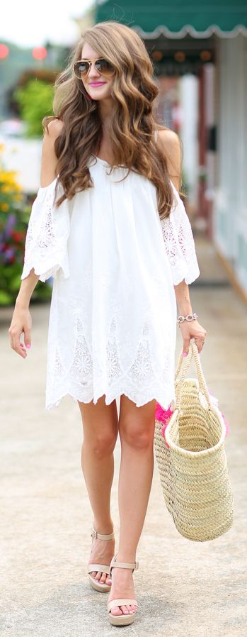 Little White Dress by Southern Curls and pearls