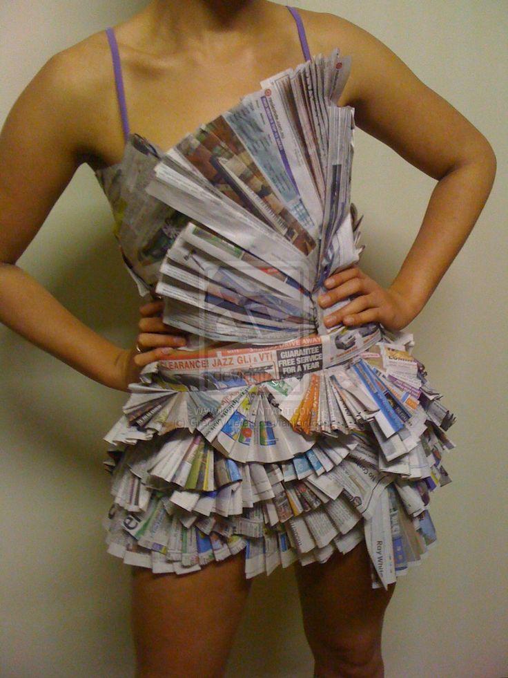Newspaper Dress By GraceVuetaki.deviantart.com