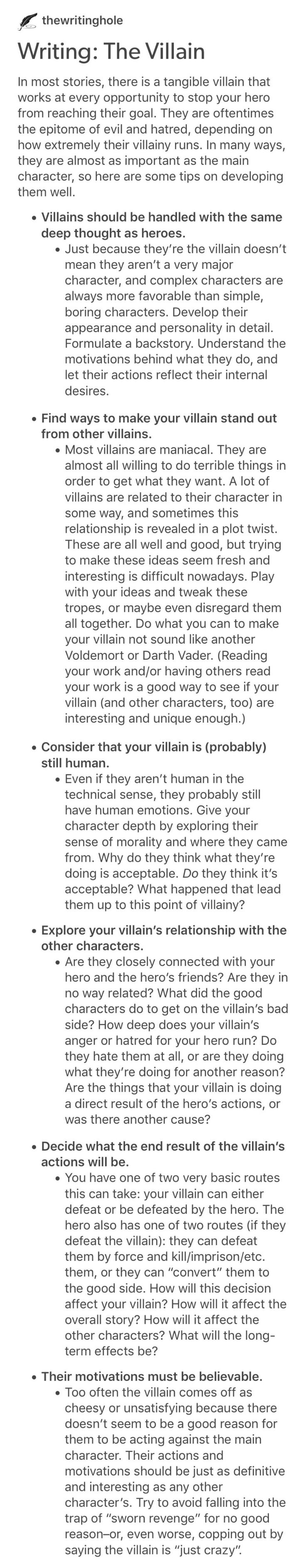 How about a villain you think is your father but then isn't?
