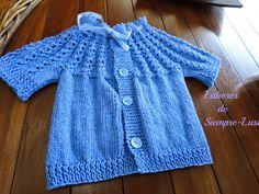 Jersey bebé de manga corta ,modelo del conjunto de tres piezas de la entrada anterior   Talla 0-3meses     MATERIALES   - Para el conjun...