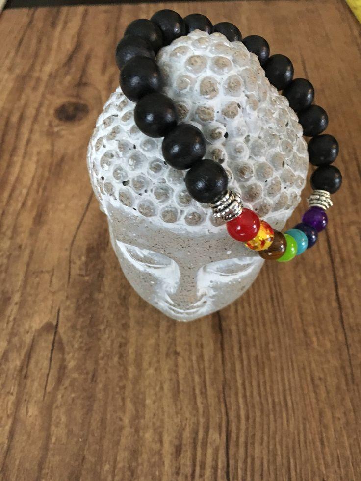 Voici ce que je viens d'ajouter dans ma boutique #etsy: Bracelet chakra pour homme. Chakra bracelet for men