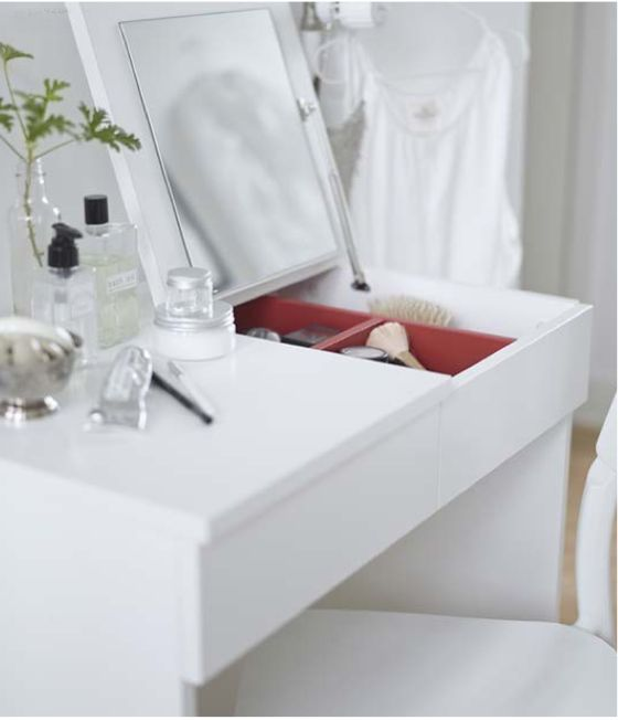 Happy Friday and A Few New Things from IKEA. like the idea of the foldaway mirror and hidden makeup