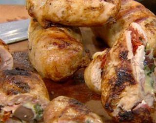 Pamplona de pollo con relleno mediterráneo