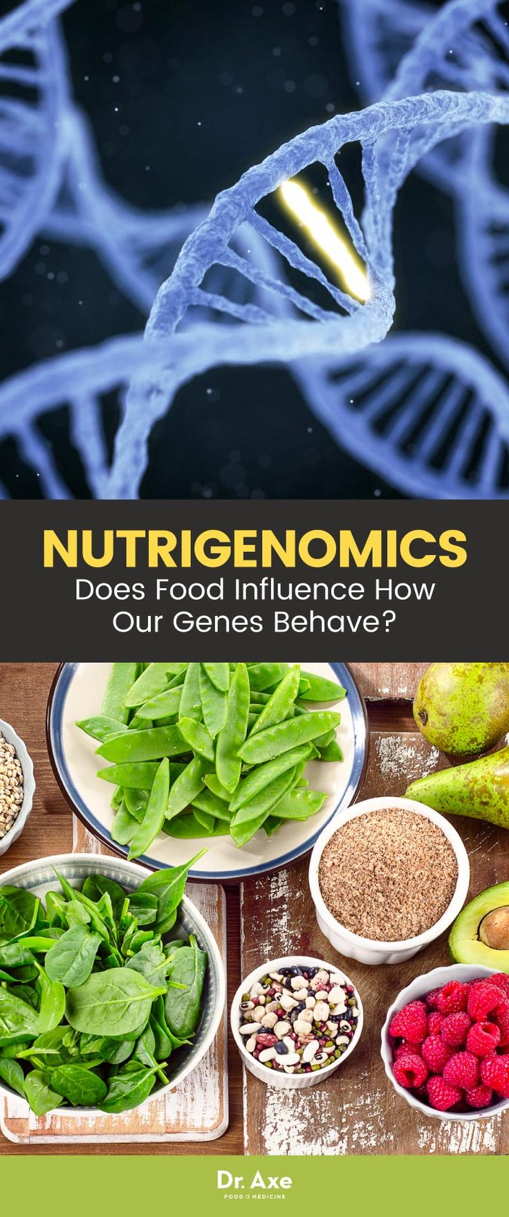 What if your genes aren't relegated to how you're born, but can be changed by your own actions — namely, the foods you eat? That could have long-lasting impact into how we prevent or treat a variety of diseases.