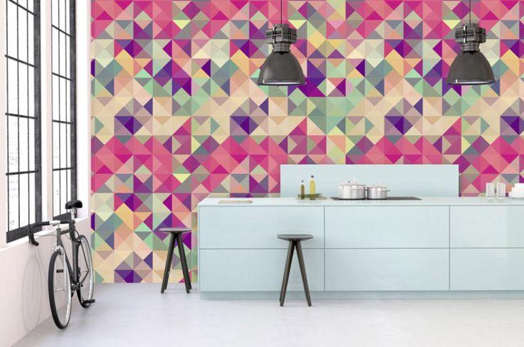 Papier peint coloré, original et design - Scenolia