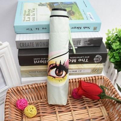 Chic Women's Eye Large Windproof Anti-UV Folding Umbrella 6 Colors