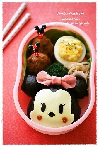 園弁【ミニーちゃんおにぎり】 |Mai's スマイル キッチン