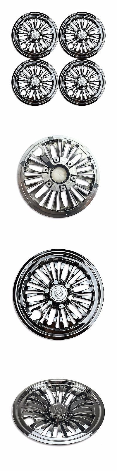 Push-Pull Golf Carts 75207: (4) One Set Of 8 Golf Cart Chrome Wheel Covers Hub Caps - Club Car/Ezgo/Yamaha BUY IT NOW ONLY: $34.95